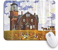 ZOMOY マウスパッド 個性的 おしゃれ 柔軟 かわいい ゴム製裏面 ゲーミングマウスパッド PC ノートパソコン オフィス用 デスクマット 滑り止め 耐久性が良い おもしろいパターン (灯台秋の収穫の農家風光明媚です)