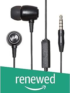 (Renewed) Motorola Metal Headphones (Black)