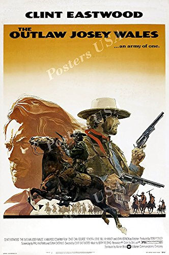 PremiumPrints - Clint Eastwood The Outlaw Josey Wales Movie Poster Glossy Finish Made in USA - FIL078 (24' x 36' (61cm x 91.5cm))