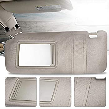 Make Auto Parts Manufacturing Left Driver Side Light Brown Windshield Sun Visor for Toyota Camry Without Sunroof and Light 2007 2008 2009 2010 2011