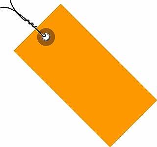 TYVEK Empty-Eyelet Pre-Wired Shipping Blank Tag, Spunbonded Olefin, Orange (G14053E)
