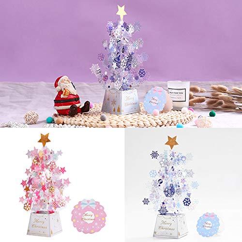 3d Popup Karte Zum Geburtstag Weihnachten,Weihnachtskarten Weihnachtsbaum,Weihnachtskarte für Freund Freundin,Luxury Christmas Tree Cards 3d Pop Up - 2 Stücke