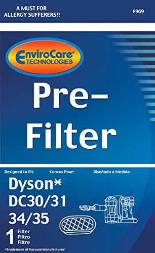 EnviroCare Premium Replacement Vacuum Cleaner Pre-Filter Made to fit Dyson DC30, DC31, DC34, DC35, DC44 Digital Slim, DC56