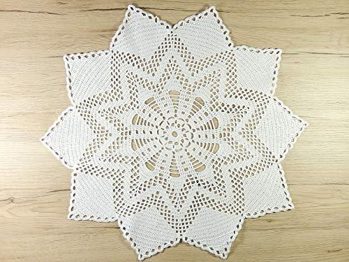 Weißes Häkeldeckchen Deckchen Tischdeckchen Dekoration