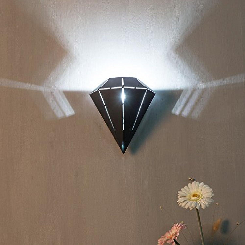 StiefelU LED Leiter der Bett-LED Wandleuchte Schlafzimmer Studie Treppe Korridor Hyun off road Wandleuchten l 25 cmw 21,5 cmt 15 cm, sand schwarz-weies Licht