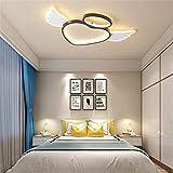 Lámpara de techo LED regulable moderna-Patrón de ángel de dibujos animados creativos Lámpara de techo para habitación de niños-Pantalla de acrílico 78 * 51 * 6CM-40W-4000lm
