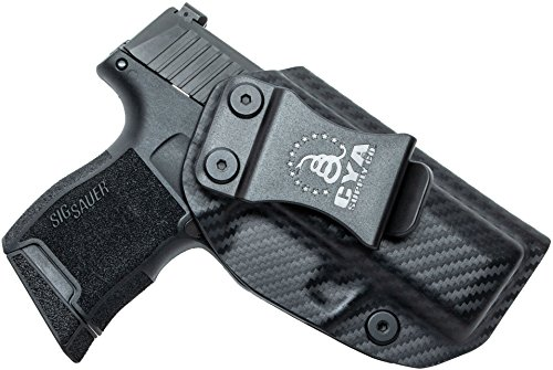 CYA Supply Co. Fits Sig Sauer P365 Micro Inside Waistband Holster Concealed Carry IWB Veteran Owned Company (Carbon Fiber, 064- Sig Sauer P365 Micro)