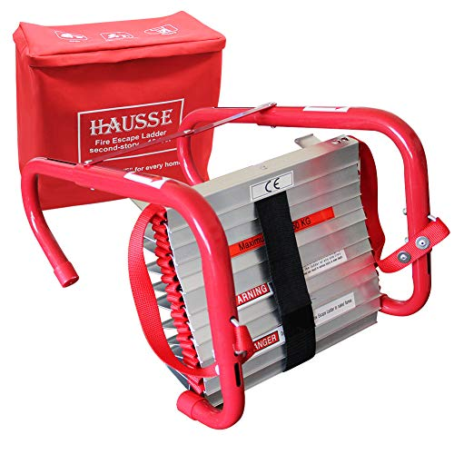 Hausse Retractable 2 Story Fire Escape Ladder 13 Feet
