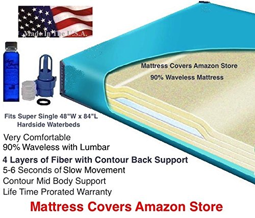 U.S. Water Super Single 90% Waveless Waterbed Mattress