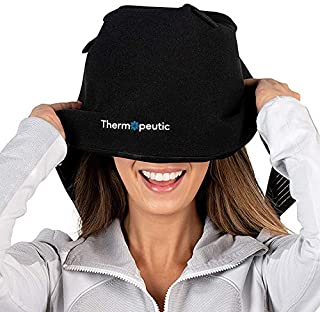 Thermopeutic Wearable Ice Pack for Migraine Headaches, Tension Relief & Skin Icing - 1 Size Fits All w/Compression Strap Hat/Mask