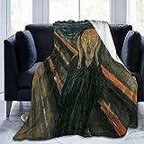 Bernice Winifred The Scream Munch Painting Ultra-Soft Micro Fleece Blanket Hecho de Franela Anti-Pilling, más cómoda y cálida.50x40