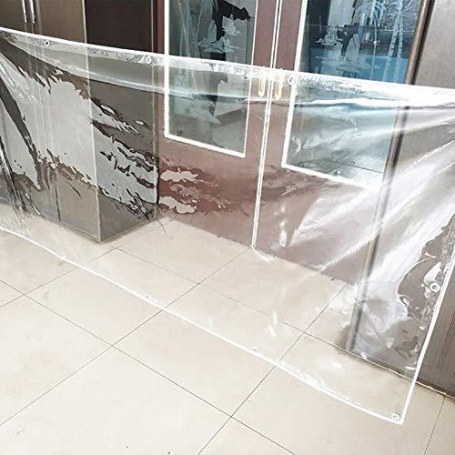 Tarps Heavy-Duty tarp-Resistant Transparant Tarpaulin Dikke scheurbestendige PVC Tarpaulin voor het zwembad op het dak van de kas (16oz / m2 22oz / m2) (Kleur: 0.5 mm Afmetingen: 2 × 4m) 1.5×2m 0.3mm
