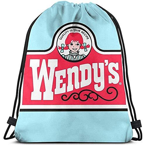 NotApplicable Cinch Bags Wendy 'S Fitness-Tasche Kordelzug Rucksack Cinch Taschen Sport Reisen Universal Geschenk Casual Print Laptop Schule