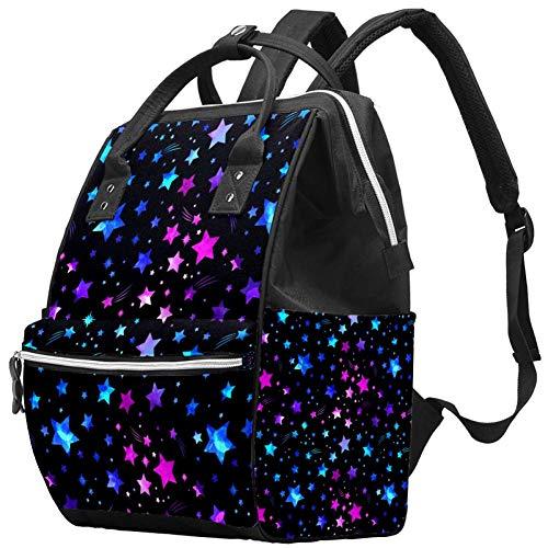 TIZOTAX Space Galaxy Stars Sac à dos à langer grande capacité pour mamans et papas