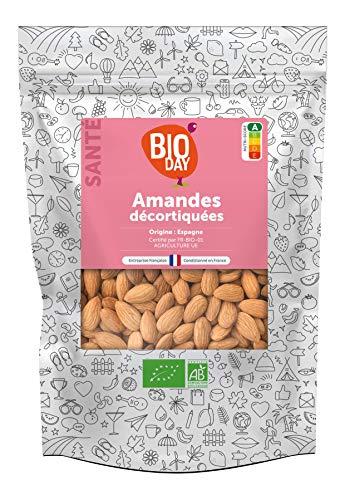 Amandes Décortiquées Bio 1kg - Sans Sel Ajouté - Bioday