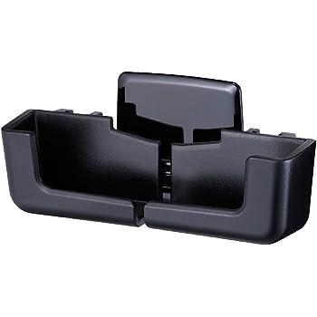 ナポレックス 車載ホルダー 簡単取付 手帳型対応(厚み20㎜) Fizz アジャストスマホスタンド ブラック 縦/横置き自在(最大幅170㎜) 角度調整可 粘着シート/取付ステー付 NAPOLEX Fizz-1081