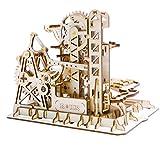 ROKR コースター 水車 コグ 歯車 立体パズル 機械模型マニア ギア 手回し 木製 クラフト プレゼント (タワー)