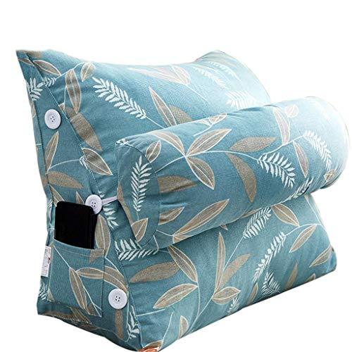 Kopfteil,Dreieckskissen Lenden-Sofakissen am Bett mit Verstellbarer Kopfstütze Bedruckter Stoff Fühlt Sich zart an und hohe Elastizität ist Nicht leicht zu verformen