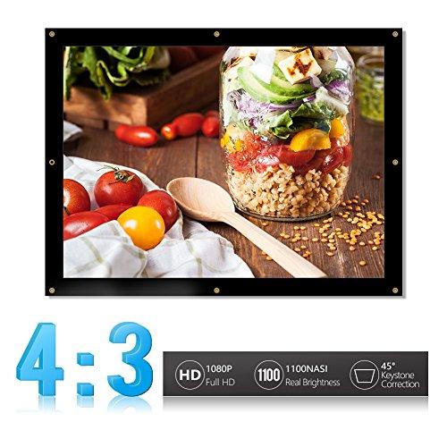 16: 9/4:3 HD beamer canvas scherm inklapbaar inklapbaar home theater doek met oogjes voor HDTV/Sport/films/presentaties