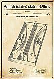 US United States Patent Office Game Board Spielbrett 1889 Blechschild Metallschild Schild gewölbt Metal Tin Sign 20 x 30 cm