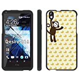 HTC Desire 816 Phone Cover, Monkey See - Mobiflare Black Slim Guard Armor Phone Case for HTC Desire 816
