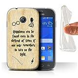 Hülle Für Samsung Galaxy Ace Style Schule der Magie Film Zitate Happiness/Darkest Times Design Transparent Dünn Weich Silikon Gel/TPU Schutz Handyhülle Hülle