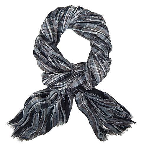 Ella Jonte Écharpes foulard d'homme élégant et tendance de la dernière collection by Casual-style gris marron – très agréable à porter