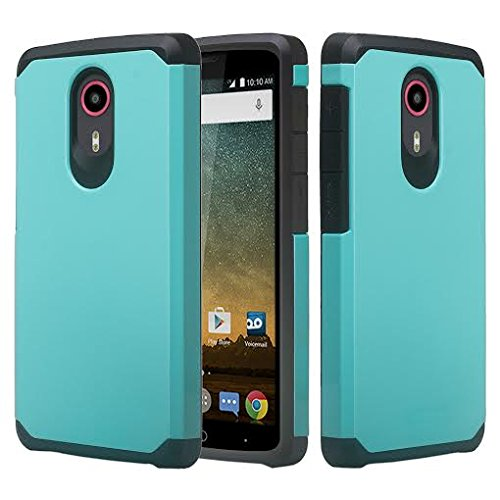 Galaxy Wireless Compatible for ZTE Ultra N817 Case, ZTE Uhura Case, ZTE Quest Case - [Drop Protection] Silicone Hybrid Dual Layer Defender Protective Case Cover for ZTE Ultra/Uhura/Quest - Teal