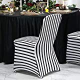Efavormart 10PCS Striped Stretchy Spandex Fitted Banquet Chair Cover Dinning Event Slipcover for Wedding Party Banquet Catering