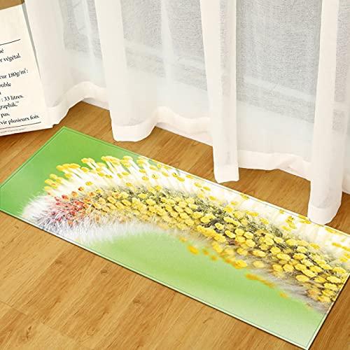 YDyun Alfombra De Salón Patchwork Diseño La Alfombra de la Puerta a Rayas es Adecuada para la Alfombra Antideslizante de la Cocina.