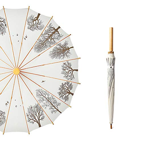 Paraguas - Paraguas - mango largo la manera del paraguas, paraguas con el árbol de modelo de la sombra, se puede utilizar en Sunny y los días lluviosos.Disponible en 3 colores Paraguas portátil