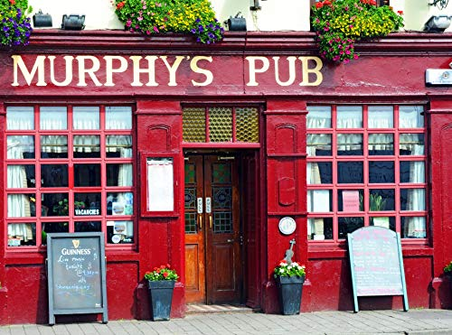 VLIES Fototapete-MURPHYS PUB-350x260 cm-7 Bahnen-(18562)-Inkl. Kleister-EASYINSTALL PREMIUM-Kerry Irland Kneipe Bar Alehouse Inn Taverne Bier Pint