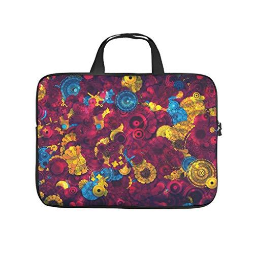 Tie Dye Colourful Mandala Laptop Bag Wear-Resistant Laptop Protective Bag Pattern Notebook Bag for Uni Work Business