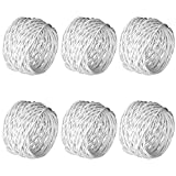 Kaizen Casa Handmade Decorations White Napkin Rings Set of 6 Metal Mesh for Weddings Dinner Parties or Every Day Use (White, 6)