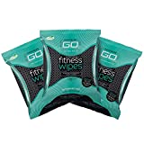 HyperGo Full Body Wipes, 20-Count (3 Pack) Mint  Cleansing Wipes for Quick Refresh, Large 12 x 12 Biodegradable Wipes, All-Natural Ingredients, Bathing Wipes for Fitness, Camping, Hiking & More