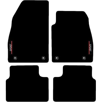 Genuine Vauxhall Insignia B 2017 On Tailored Velour Black Carpet Mats Set