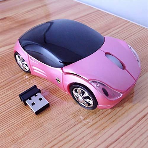 L-sister Alta precisión Nuevo USB 2.4 GH Tuner Car USB2.0 Ratón Ocular Ratones para ordenador portátil PC mejor sensibilidad (color: rosa)