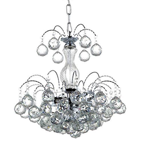 AI LI WEI Juan mooie lampen/kristallen lamp kroonluchter slaapkamer woonkamer licht Φ380mm * H380mm; E14 * 3 eenvoudige moderne restaurant verlichting kristallen Lighting Factory groothandel
