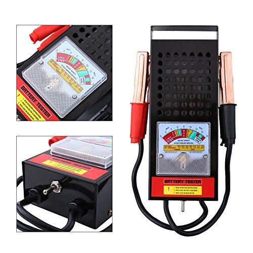Schwarz Batterietester Batterieprüfer Auto KFZ Batterie Akku Testgerät 100A