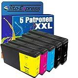 Tito-Express PlatinumSerie 5 Patronen XXL kompatibel mit Epson T7901-04 79XL Workforce Pro WF-5110DW WF-5190DW WF-5690DWF WF-4630DWF WF-4640DTWF WF-5620DWF | Black 50ml, Color 25ml