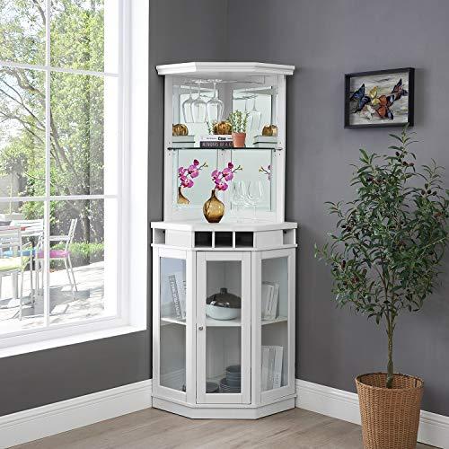 Home Source Corner Bar Unit White