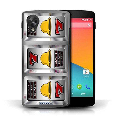 STUFF4 Telefoonhoesje/Hoes voor LG Google Nexus 5/D821 / Klokken Ontwerp/Slot Machine Collectie