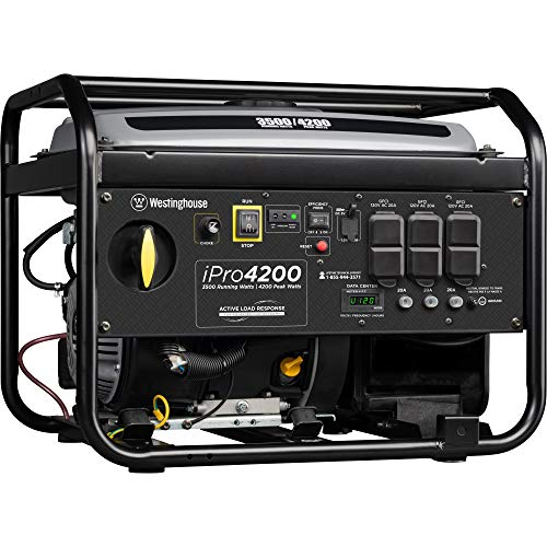 Westinghouse iPro4200 Portable Industrial Inverter Generator - 3500 Rated Watts & 4200 Peak Watts -...