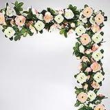 NORTHERN BROTHERS - Guirnalda de flores artificiales para jardín al aire libre (6 unidades)