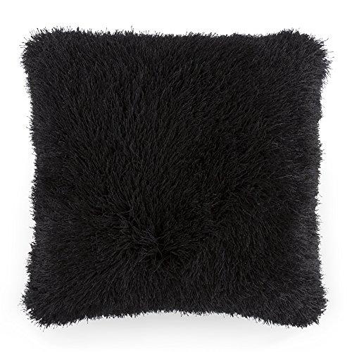 Lavish Home Suelo Almohada, 21'x 21, Color Beige, Negro, Negro