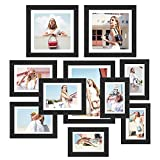 1. 🎁HIGH QUALITY MATERIAL: Made of high grade solid MDF material in black finish and sturdy high-definition glass, these picture frames are beautiful, durable, looks stylish and elegant. 2. 🎁DECORATIVE FRAME: The display frame combined with tradition...