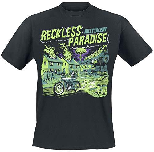 Billy Talent Reckless Paradise Männer T-Shirt schwarz M 100% Baumwolle Band-Merch, Bands