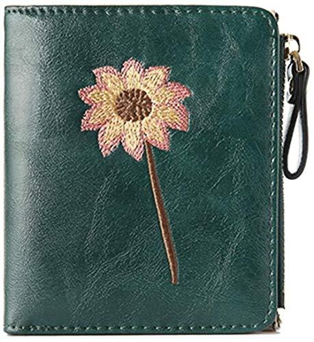 Dames Small Bi-Fold Wallet schattige mini rits portemonnee Card LIrte Hof eenpersoonskamer collegegelden Buckle CK LIrte Purse (Kleur: C), Kleur: C (Color : C)