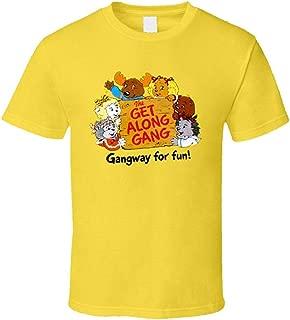 RoyMGonzalez Men's Get Along Gang 80s Cartoon Cool T-Shirt