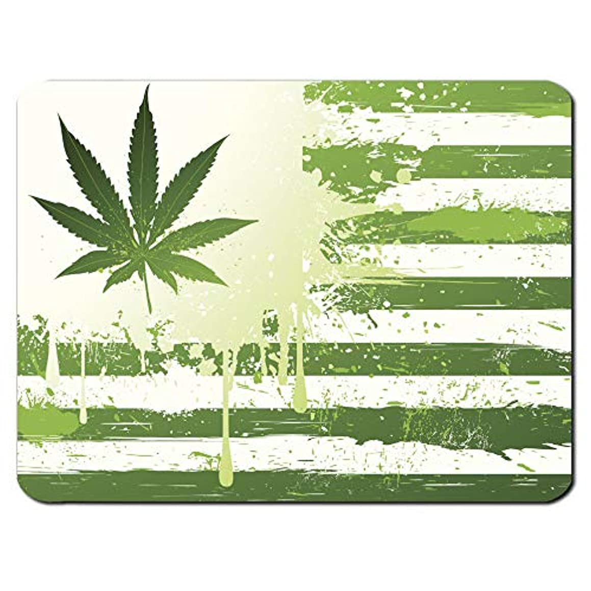 USA Weed Flag Cannabis Marijuana Drugs Dope Funny PC Computer Mouse Mat Pad